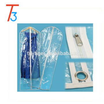Eco friendly Large Clear Plastic Bags wedding dress garment bag wholesale