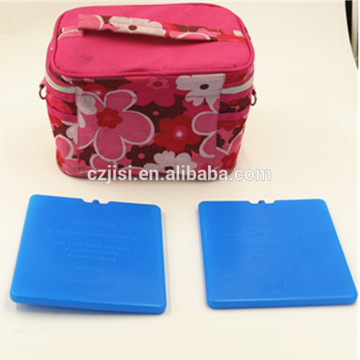 slim reusable plastic ice cooler block for lunch