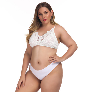 Sexy Plus size women lace bra