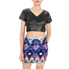 Summer Multicolor Mini Sequin skirt