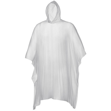 Custom printed ecofriendly biodegradable rain poncho for wholesale
