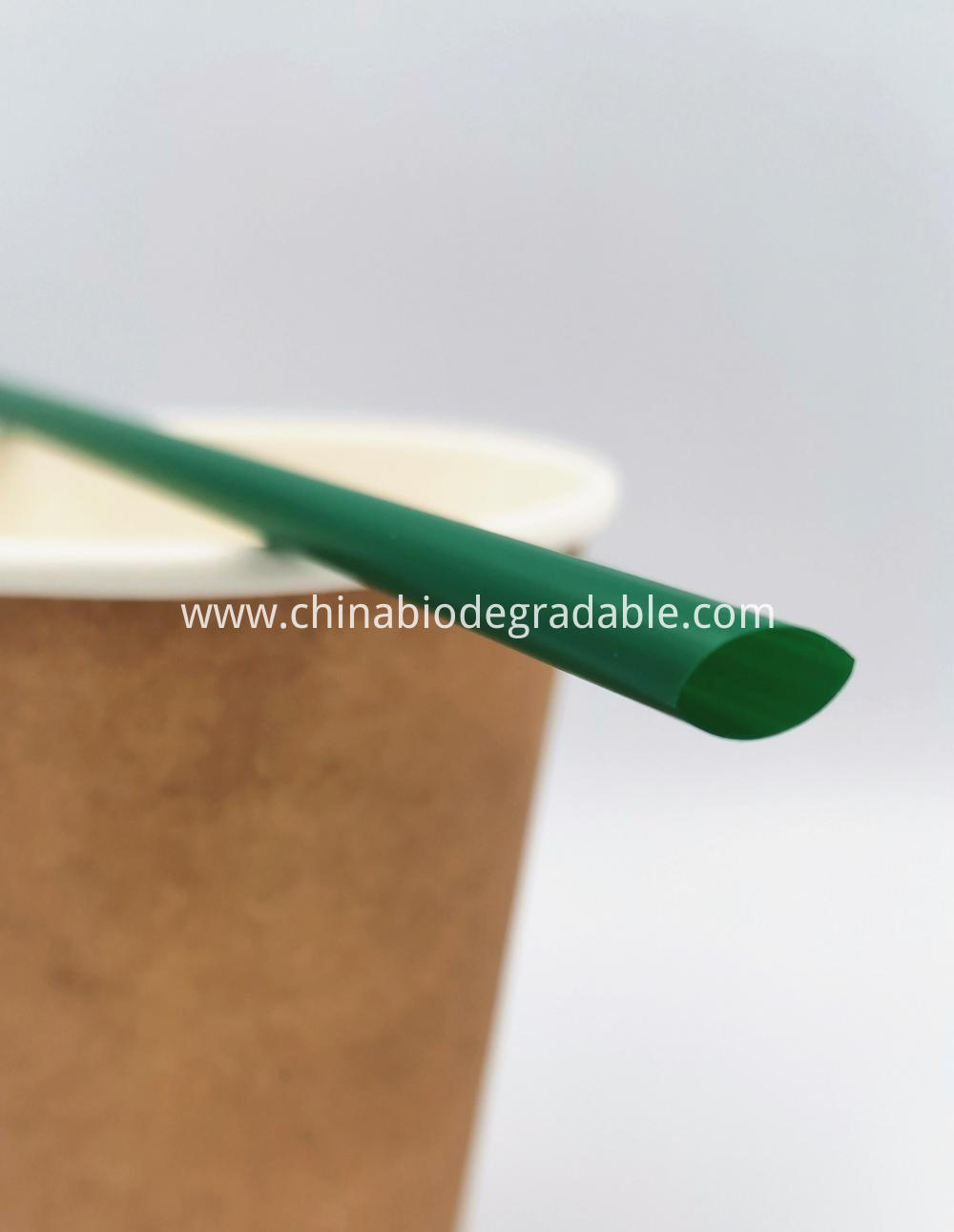 Compostable Plastic Flexible PLA Natural Drinking Straw