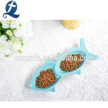 Customize The Lovely Fish Shaped Pet Ceramic Dish