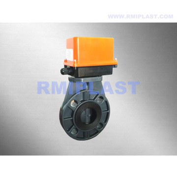 UPVC Butterfly Valve Electric Powered Regulating Type