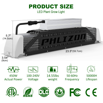 Waterpoof Phlizon LED Grow Light 240W Magazyn USA