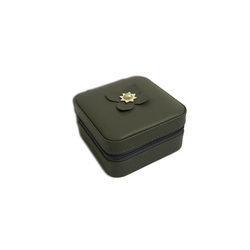 Gray travel jewellery box