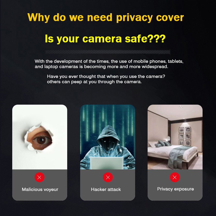 200pcs Mobile Phone Privacy Sticker WebCam Cover Shutter Magnet Slider Plastic For iPhone Web Laptop PC iPad Tablet Camera Cover