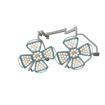 Double dome flower type surgical lamp