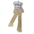 Christmas pet knit scarf and festival dog scarf