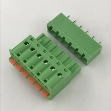 pluggable terminal block with push in botton contact