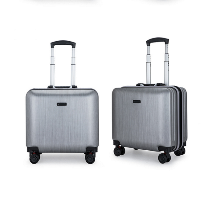 Silvery Luggage Trolley