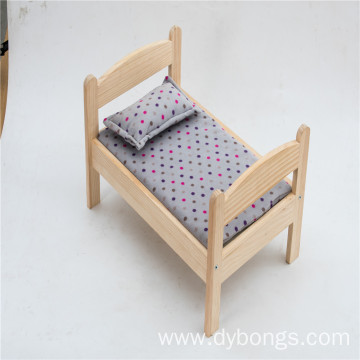 Handmade dog wooden bed high quality solid wood furniture pet bed