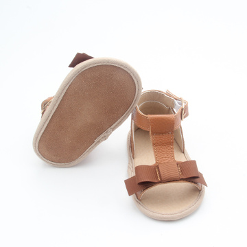 Baby Toddler Shoes Leather Summer Sandals with Bow