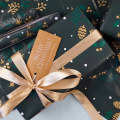 Green Christmas Gift Wrapping Paper Roll
