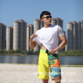 Swimming Short Position Digital Print Fitted Waistband