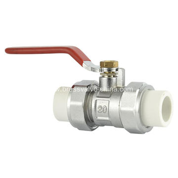 Brass PPR ball valves for PPR pipe connection