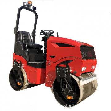 1.2ton ride-on double drum road roller compactor