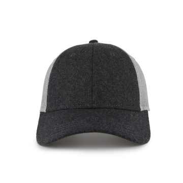 Melton and mesh blank baseball cap
