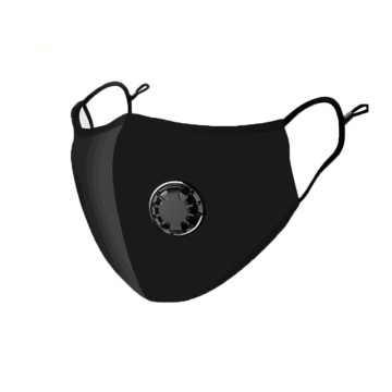 Breathable Cotton Black Respirator Mask With Valve