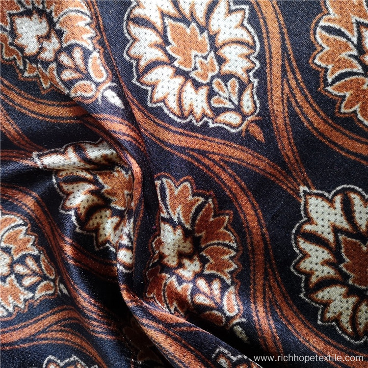 African Design Printed Upholstery Velvet Fabric For Textile