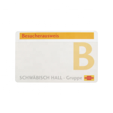 PVC Business Card With Embossing Number
