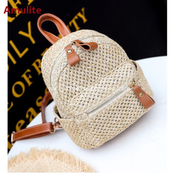 Fashion women leisure beach bag straw woven bag
