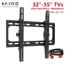 "TV Mount for 26-55 Inch TVs, Universal Tilt TV Wall Mount Bracket Fits 26"", 32"", 55"" Loading 110 Lbs Low Profile Wall Mounts"