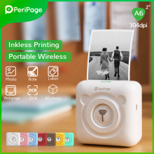 PeriPage Portable Thermal Bluetooth Printer 304dpi Thermal Picture Photo label Mini Printer for Android IOS Mobile Phone A6