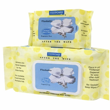Non-woven Flushable Lid Wet Wipe Flushable Wet Wipes