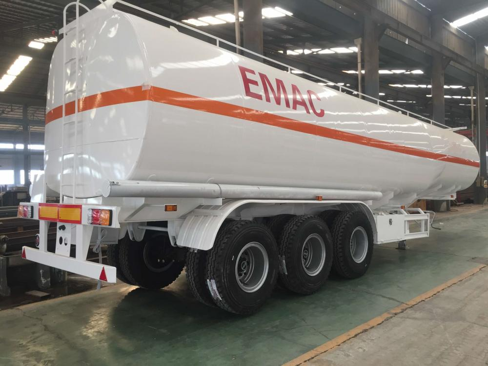 White Fuel Tank Trailer