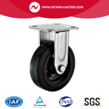 8'' Rigid Heavy Duty Black Rubber Industrial Caster with Iron Core