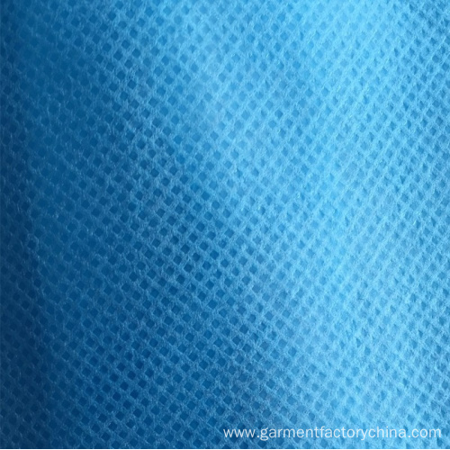 Disposable Blue 25gsm PP Waterproof Non-Woven Isolation Gown