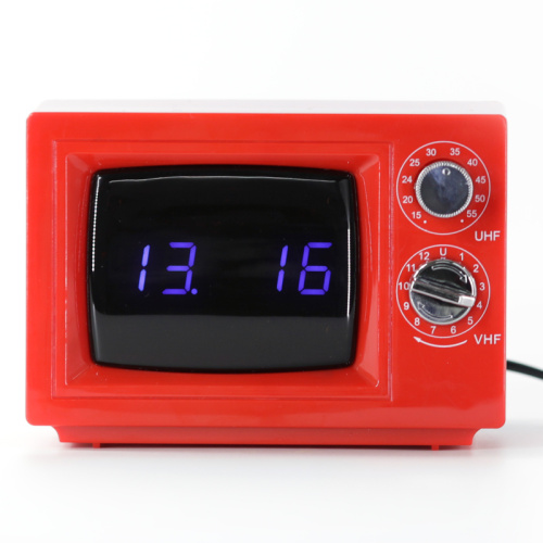 Red TV Alarm Table Clock
