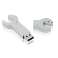 Metal Sliver Wrench Shape Usb Flash Drive