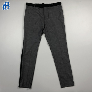plus size Black side casual male trousers