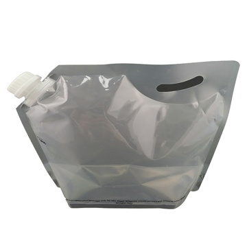 Food grade juice wine packaging bag with handle