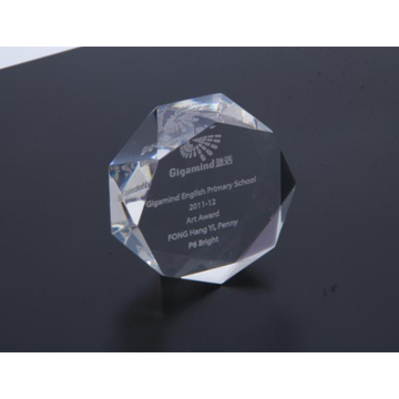 Clear Acrylic Octagon Paperweight