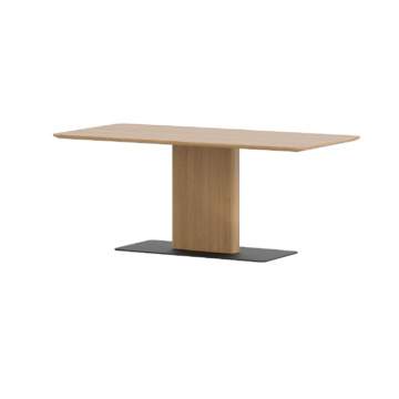 black-stone Oak Wooden Square Dining Table