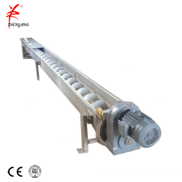 Flexible coal hopper auger screw conveyor