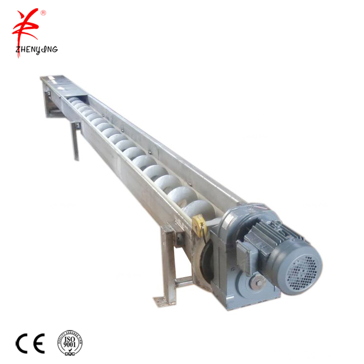 Cement double shaft mixer conveyer