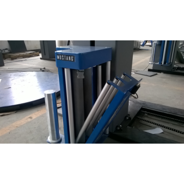 stretch film pallet wrapping machine pre-stretch