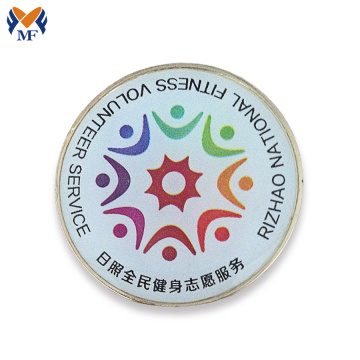 Printing logo round pin badge with customized