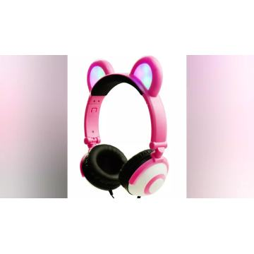 Promosi Headphone Light LED Funny dengan Bear Ear