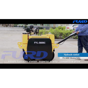 Walk behind vibratory roller soil compaction equipment for sale FYL-S600