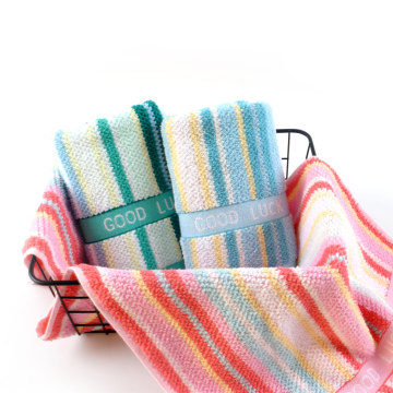 colorfull 100% cotton yarn-dyed hand towel