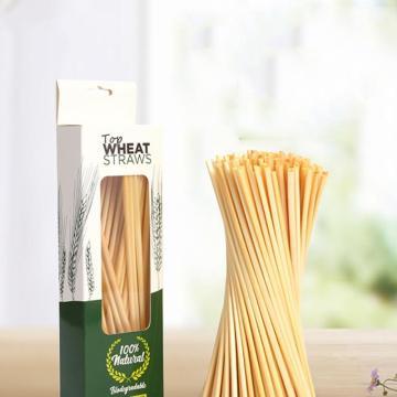 100pcs/20cm Wheat Drinking Straws Natural Eco-Friendly Biodegradable Straws Friendly Straw Bar Kitchen Accessories