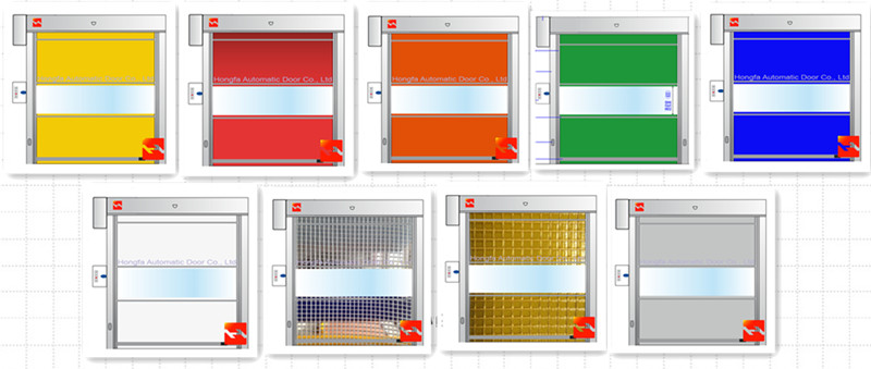 PVC roll up door color option