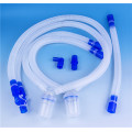 Disposable medical corrugated tube breathing circuit