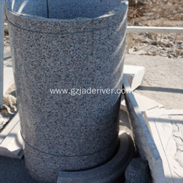 Natural Granite Building Shaped Stone Cylinder