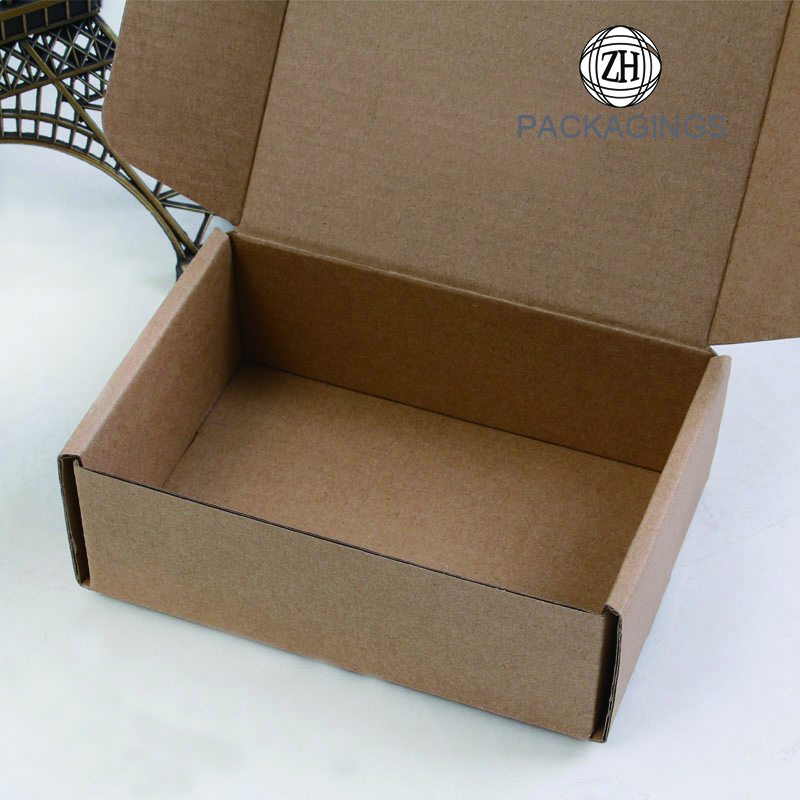 Brown empty paper mailing box small
